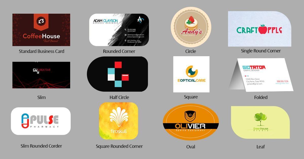 Resultado de imagen para business cards shapes