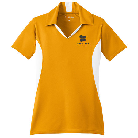 Ladies' Side Blocked Micropique Sport-Wick® Polo Shirt