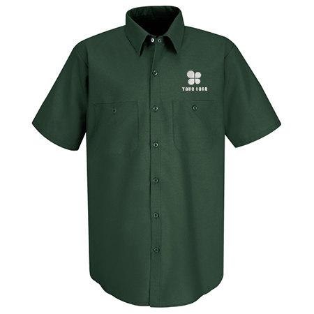 Men's Half Sleeve Industrial Red Kap Work Shirt
