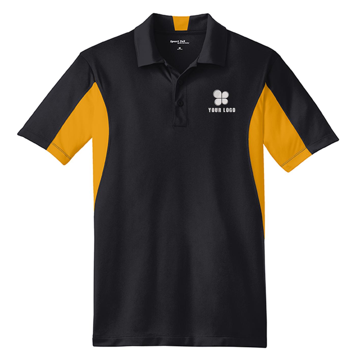 Men's Side Blocked Micropique Sport-Wick® Coaches Polo Shirt