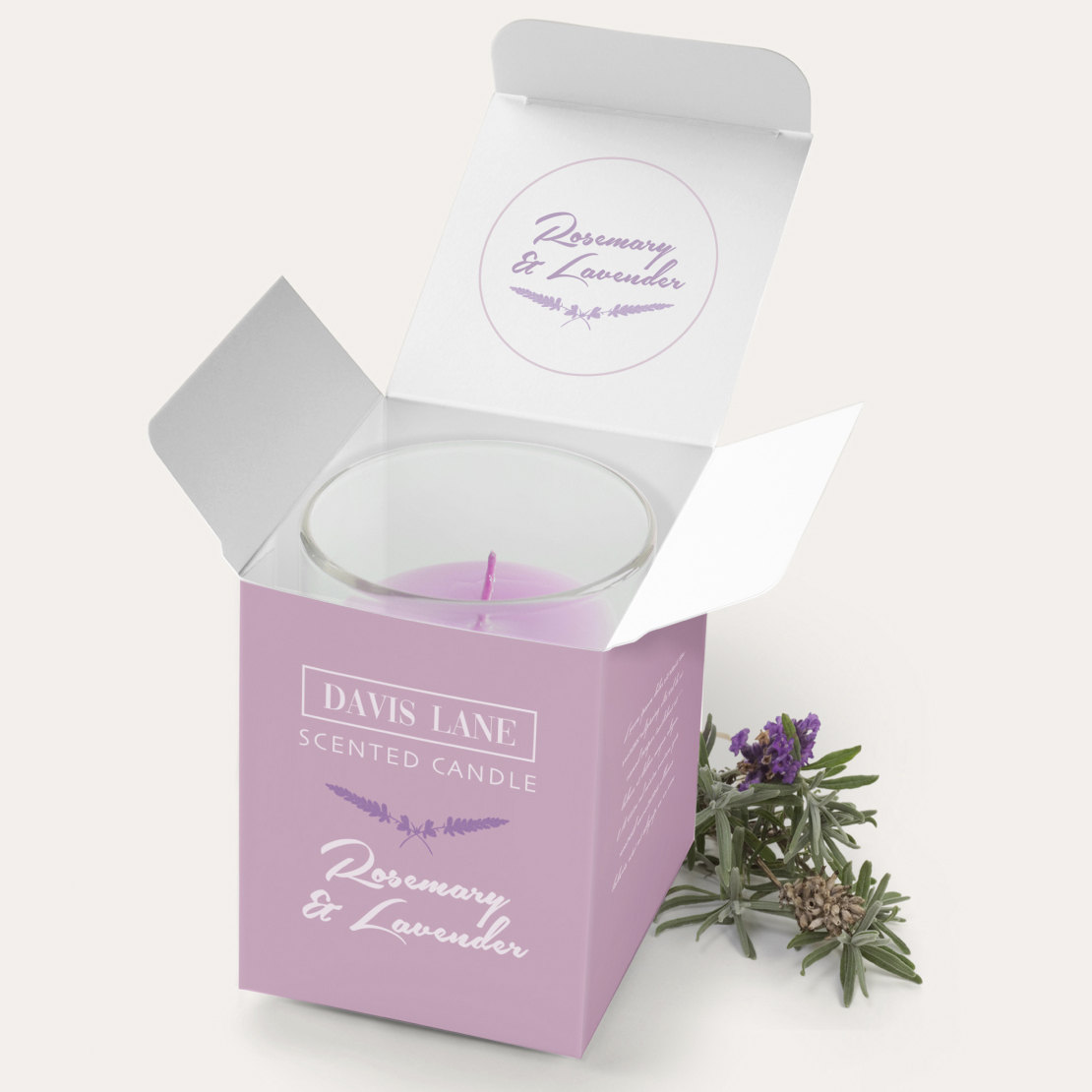 davis lane scented candle product box
